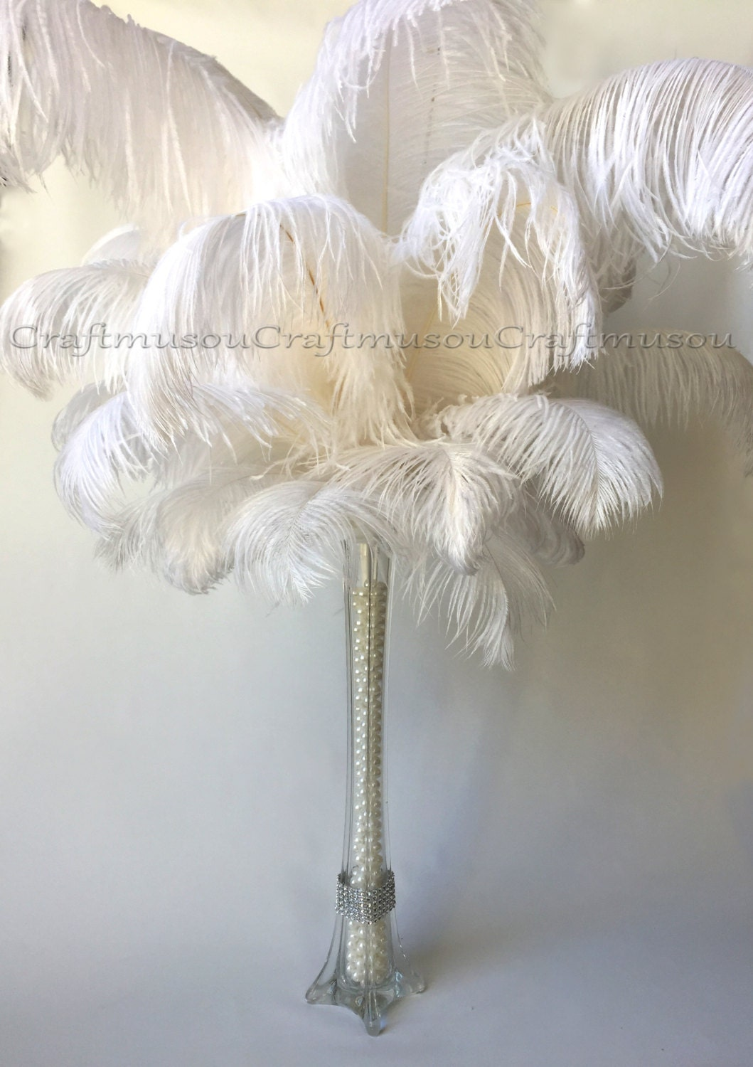 Bulk 50 piece 10 24 inches white ostrich feather for wedding zoom reviewsmspy