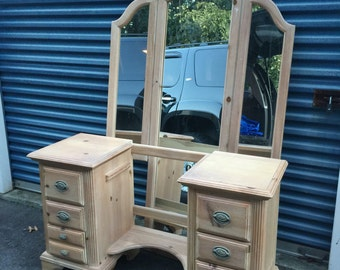 Large Vanity with Stool