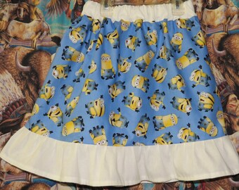 New  size 4t minions twirl skirt made with minion fabric