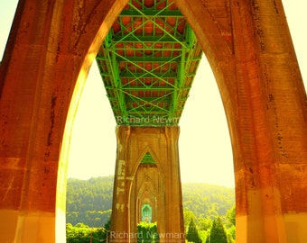 St Johns Bridge, Portland Oregon, 11 x 14 photograph