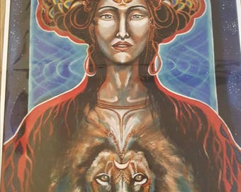 Sekhmet&Lion Beeing-limited edition giclee print 30/40cm