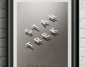 Star Trek Art Print Wall Decor Clay Typography Inspirational Poster Motivational Movie Picard Kirk