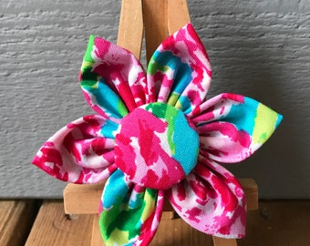NEW! Watercolor Roses Collar Flower, Matching bow tie available