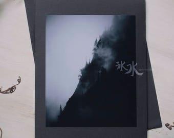 Landscape Photo Card - Mountains - Less colors, more feelings..