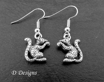 Mouse Earrings Sterling Silver Sterling Silver