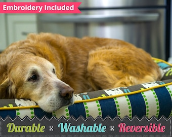 Dog Bed, Custom Dog Bed, Personalized Pet Beds, Reversible and Washable, Pet Furniture, Dog Pillow, Custom Pet Bed,  Large or Small Pet Bed