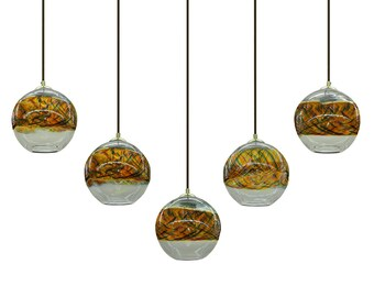 Sunset Banded  Pendant  Chandelier Hanging Light by Rebecca Zhukov