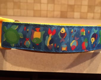 The Reef Large and Medium dog collar & Optional Matching Leash