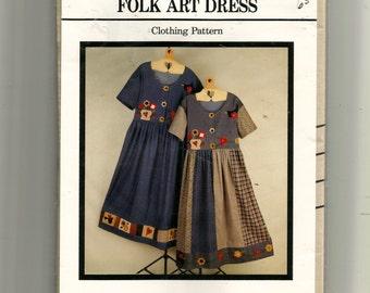 Fabricraft Folk Art Dress  Pattern 348