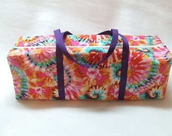 Tie Dye Carrying Case for the Cricut Explore Air machines/ Silhouette Cameo 3 / Brother ScanNCut/ Carrying Bag for Die Cut Machines