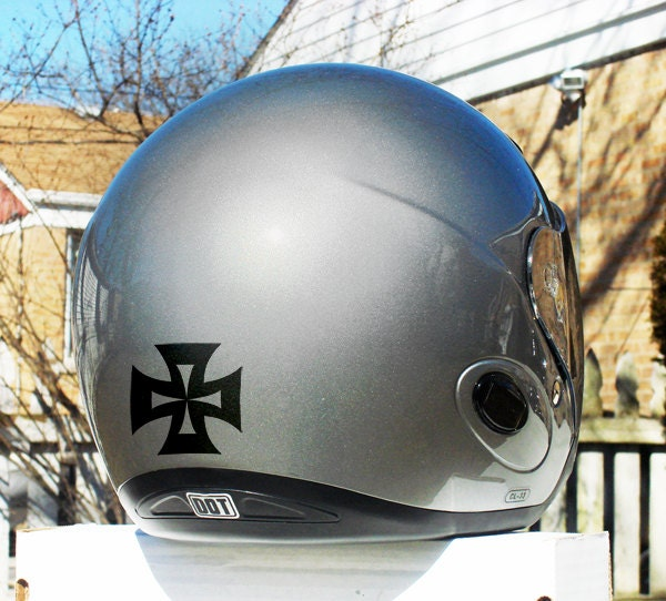 Image is loading Reflective-helmet-stickers -7-colours-available-INCLUDING-BLACK-