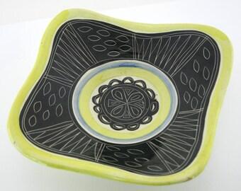Vintage ceramic fruit bowl Jacques Pourchain