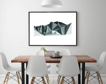 Mountain Landscape Graphic Wall Art