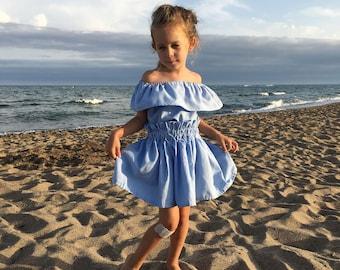 Skirt Valentine blue 2-6 years