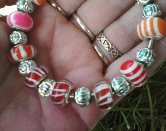 Candy colors, Euro style bracelet