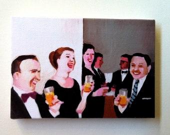 Funny joke / Tiny canvas print -CANVAS ART PRINT / wall hanging tiny print