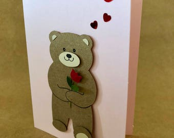 Handmade, Hand-Cut, Greeting Card - Valentine's, Mother's Day, Birthday, Anniversary, Love
