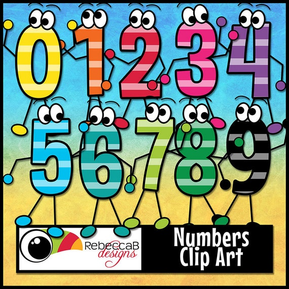Numbers Clip Art, Number Characters, Maths Clip Art, Printables from ...
