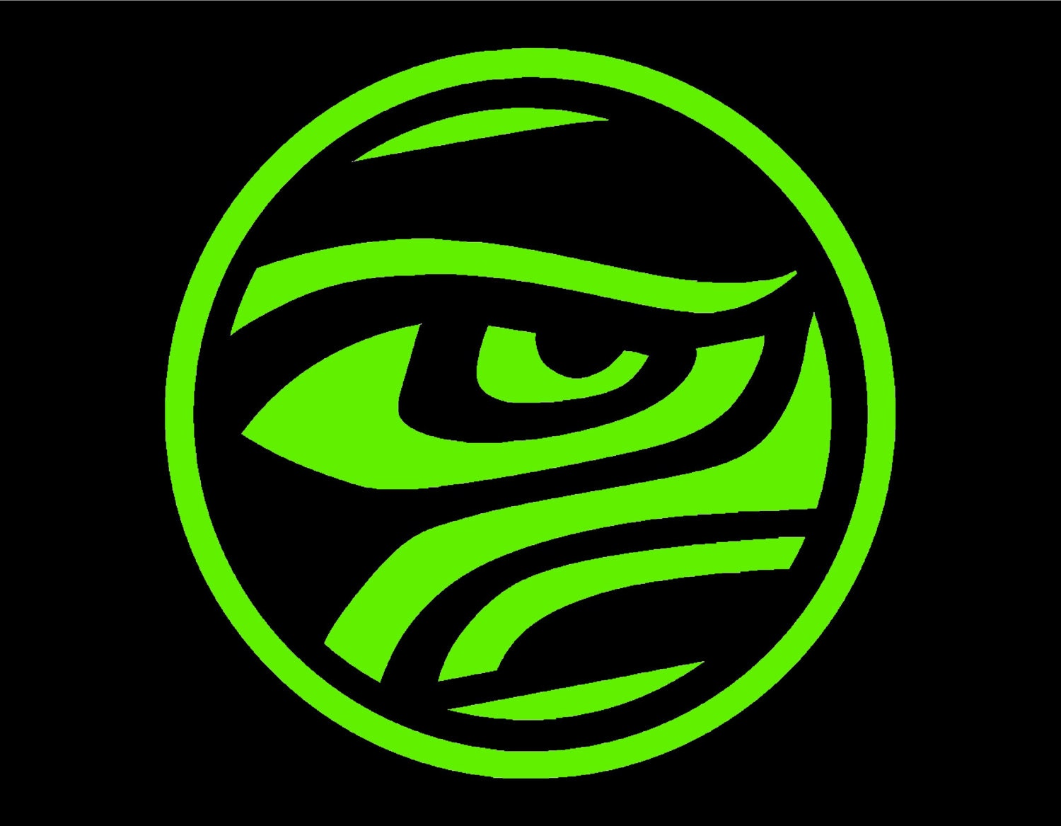 Seattle seahawk eye round vinyl window decal pick your size zoom biocorpaavc Image collections
