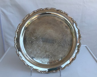 Oneida Silverplate Serving Tray or Plate 1940s