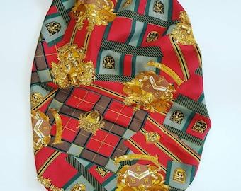Maxi vintage scarf in pure silk.