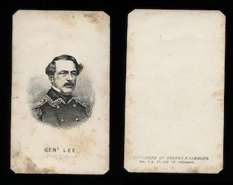 Civil War General Robert E. Lee / Original 1860s Print