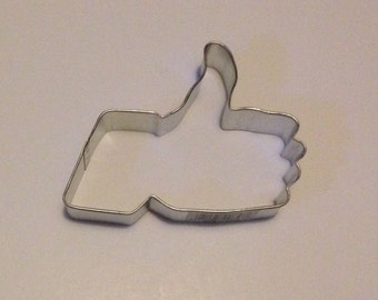 """4"""" Thumbs Up / Facebook """"Like"""" Cookie Cutter"""