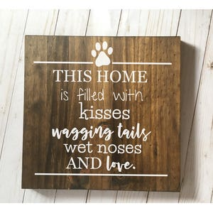 Pet Wood Sign, Pet Love Wood Sign, Wood Signs About Pets, Gifts Under