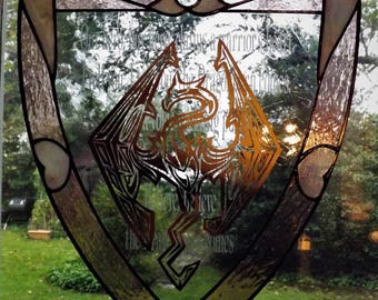 Stained Glass Skyrim Shield Royal Wine