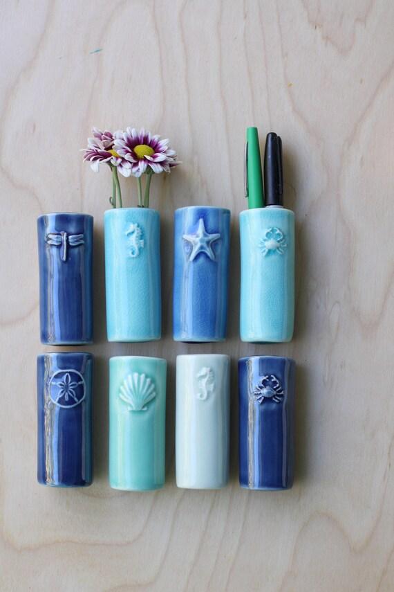 sea life bud vase pen/flower magnet, your choice