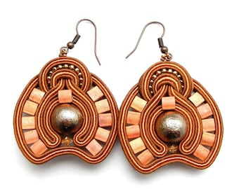 New handmade Pendants earrings Soutache Simple template for every occasion Gift Idea