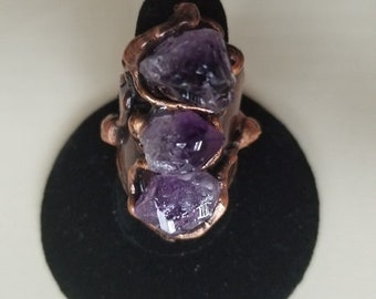 Copper Ring with Amethyst