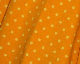 Knit Buttercream Yellow Dots Fabric 1 yard