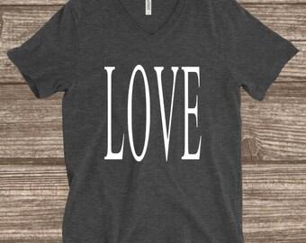 Love Shirt - Inspirational Shirts - Word Shirts - Simple Shirts - Valentines Shirts