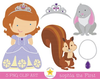 Sophia clipart, princess clipart, sophia the firts clipart, princess graphics, sophia graphics, princess party, cute graphics