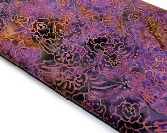 Princess Mirah Batiks Java Jewels Collection Purple Pink Olive Foral Batik Quilting Sewing