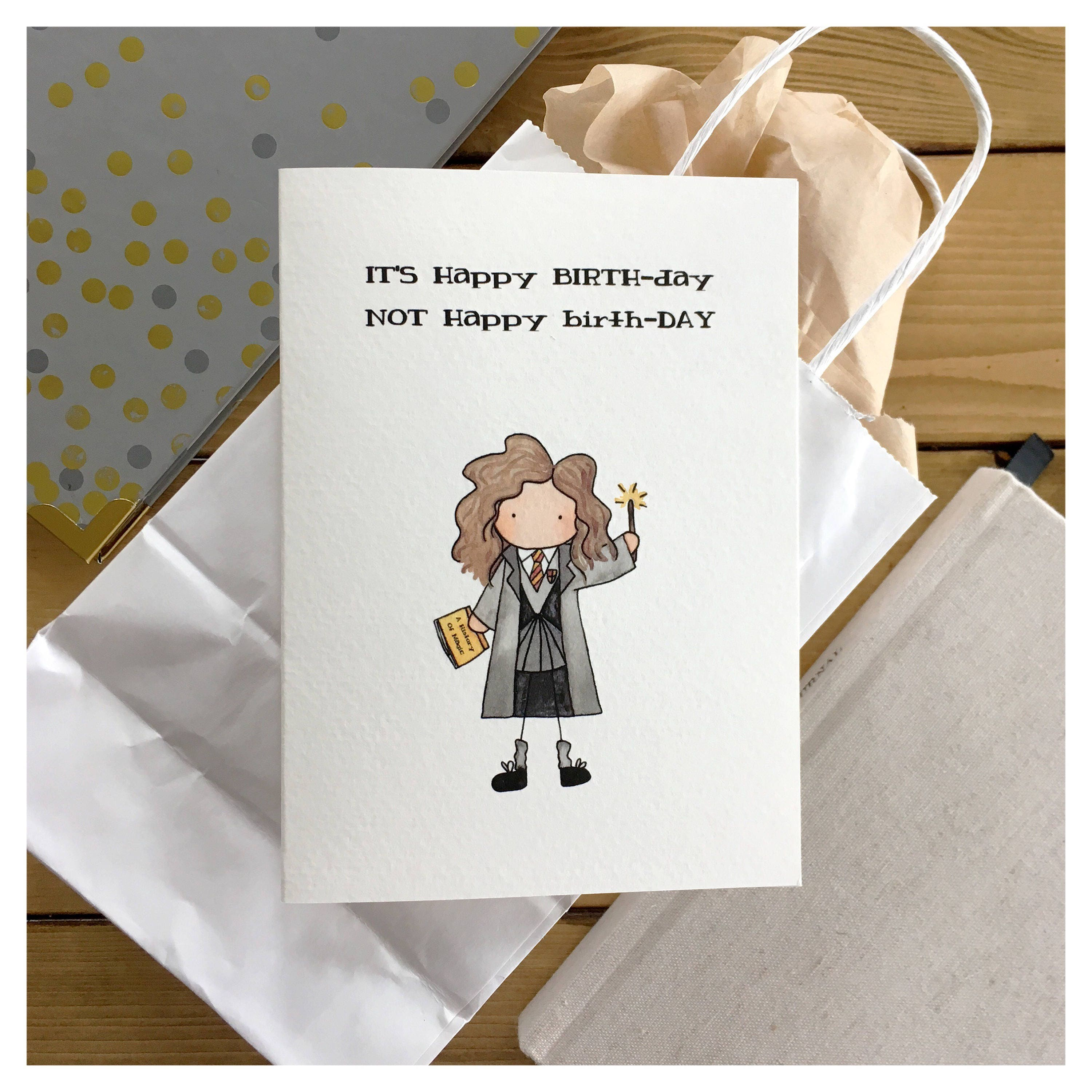 Witch Birthday Card magical birthday wizard card witch card