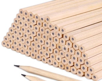 100pc Pencils Drawing hexagon/triangle HB/2B burlywood
