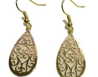 Golden Teardrops Earrings