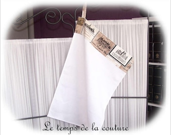 Hand towel - kitchen towel - shades of white, taupe and black - N 1 - handmade.