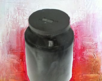 """Original Mixed-Media Painting with Photography -- 11x14"""" - PEPPER POT"""