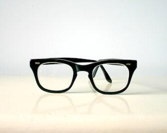 Authentic Vintage 1960's Black Rim Glasses