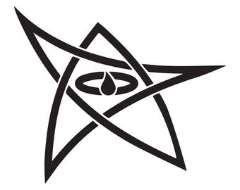 H.P. Lovecraft Elder Sign Vinyl Decal Sticker Cosmic Horror