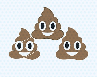 Poop Emoji Svg, Poop Svg Files, Svg Files, T- Shirt Designs, Vinyl Files, Cricut, Silhouette Cut Files