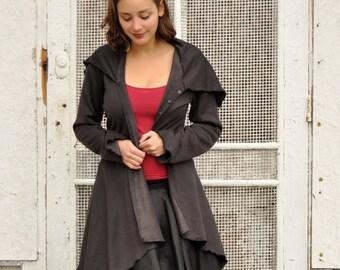 Fleece Jacket - Cozy Bamboo Coat - Custom Made in the USA by Yana Dee