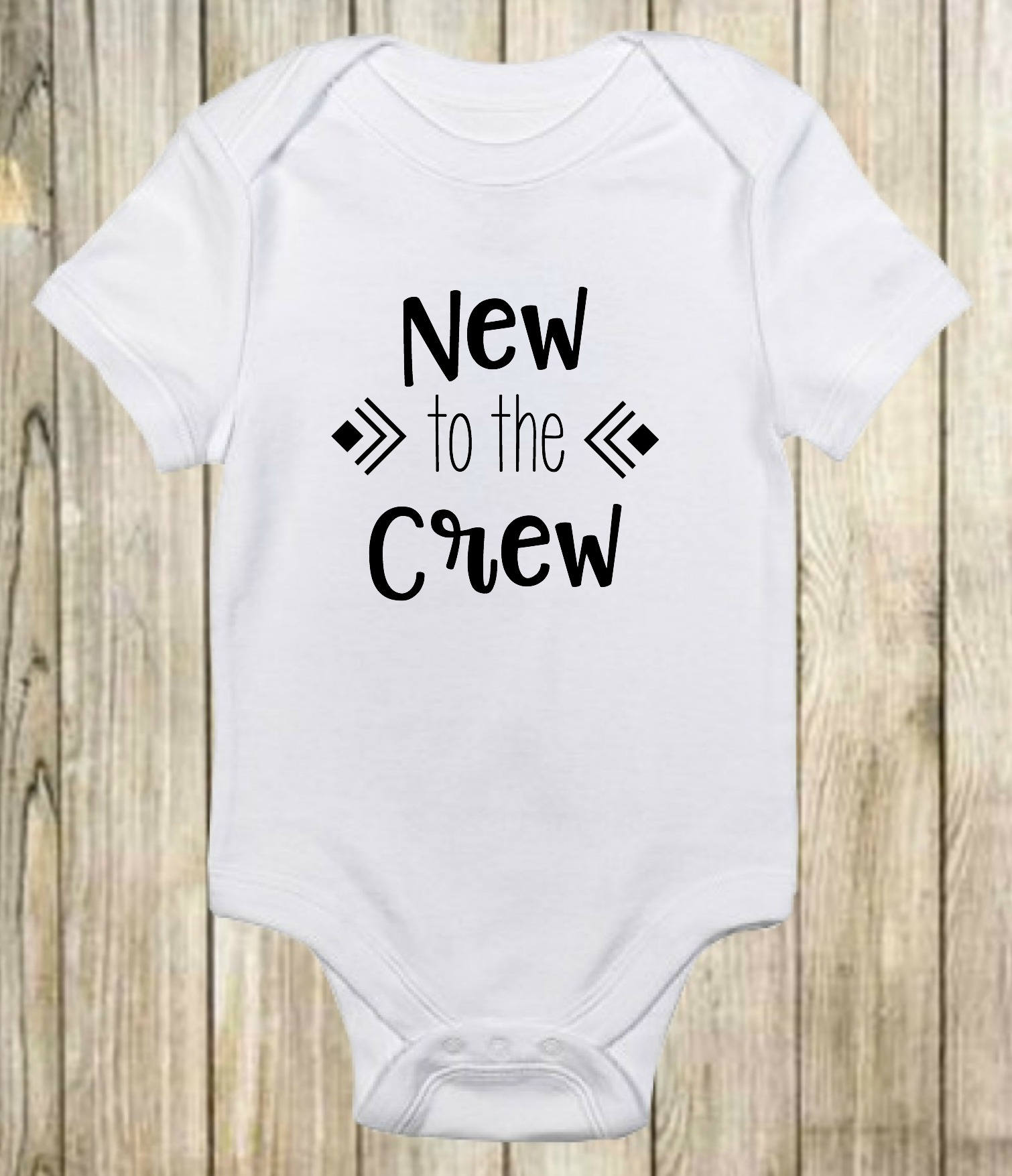 New To The Crew esie Cute Baby Clothes Boys and Girls