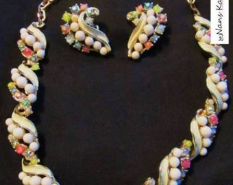 Vintage signed ART choker and matching earrings