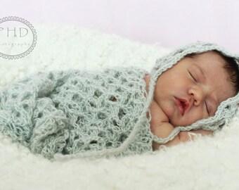 Crochet Pattern  - Lizbeth's Lace Bonnet and Wrap