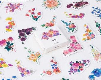 bloem stickers met bloemen stickers, schoolbenodigdheden, kogel dagboek accessoires, planner stickers, terug naar school, schroot boek, tijdschrift sticker