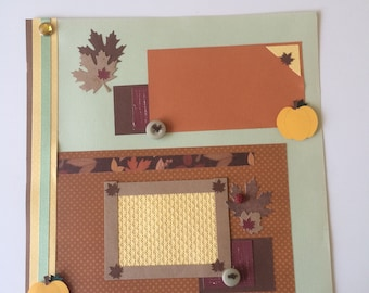 Fall Premade Scrapbook Pages